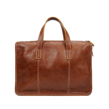New Vintage Cow Skin Genuine Leather Men's Briefcase Fashion Large Capacity Casual Business bag Male Shoulder Laptop Bags 2020 new fashion men briefcase bags genuine leather large capacity bag male vintage bags luxury brand casual shoulder bag