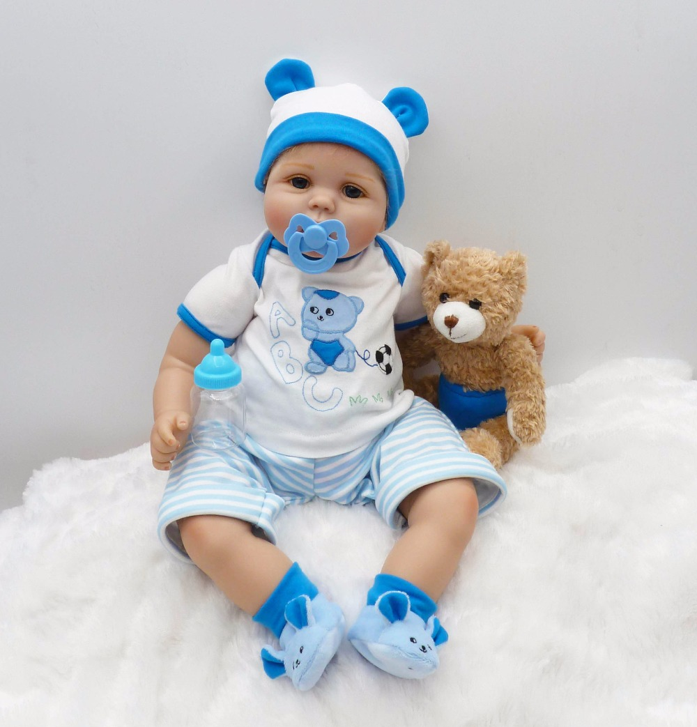 22 inches New Handmade Silicone 55 cm vinyl adorable Lifelike toddler born Baby Bonecas girl kids doll reborn cute silicone new 23 inches lm230wf5 tld1 1920 x1080 lm230wf5 tld1 lm230wf5tld1 tld2
