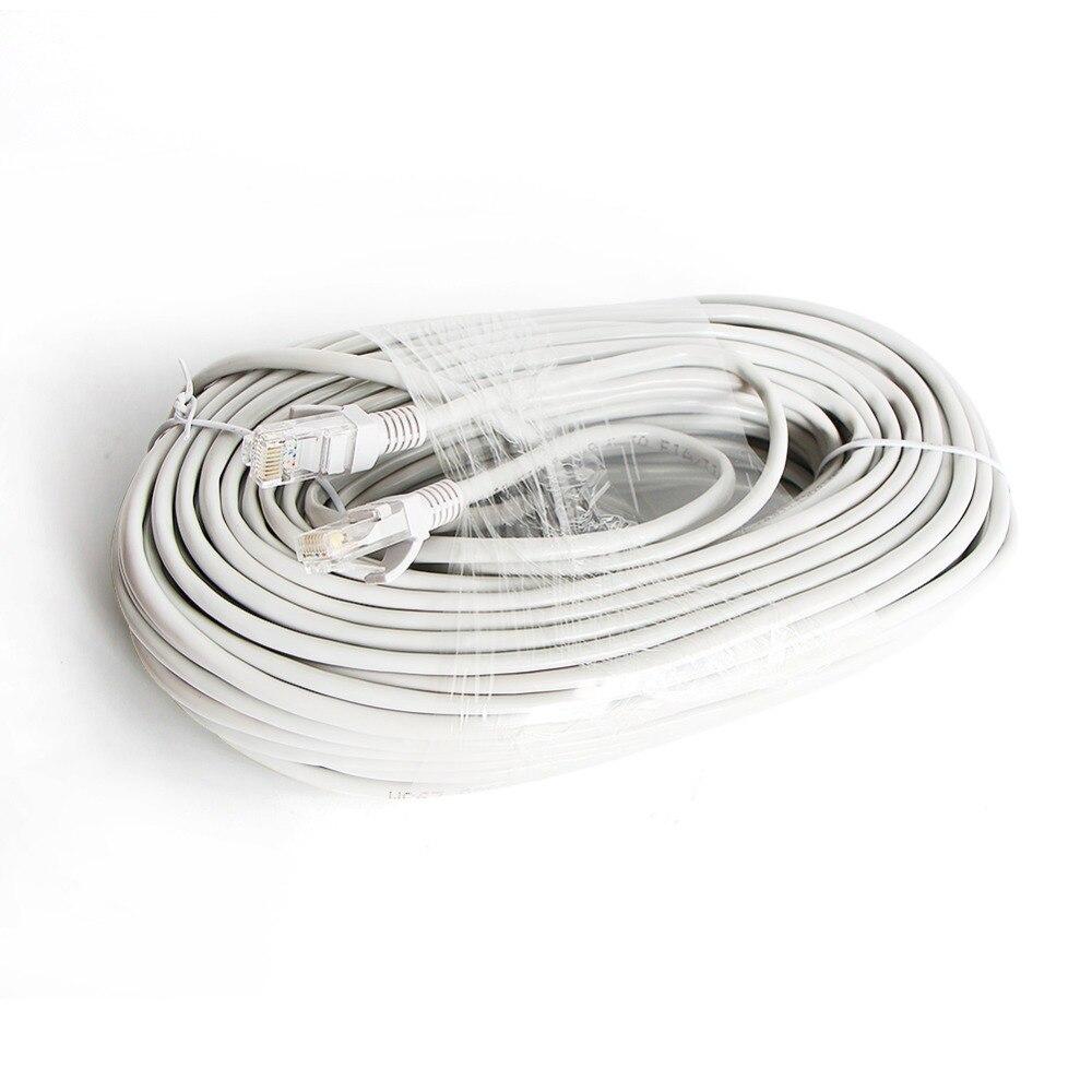 RJ45 кабель 10 м/20 м/30 м/50 м серый CAT5/CAT-5e Ethernet кабель RJ45 CCTV сетевой Lan кабель для системы NVR ip-камеры