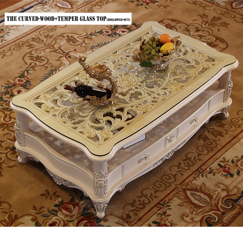 center table curved wood temper glass-1