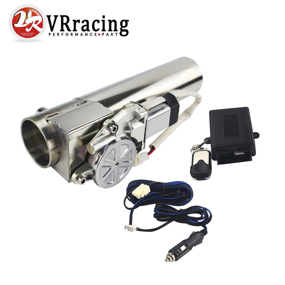 VR RACING - Universal 2.5'' or 3'' Exhaust Pipe Electric I Pipe Cutout with Remote Control Wholesale Valve For Jeep Wrangler cybernetics or control