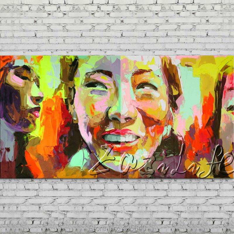 Palette font b knife b font portrait Face Oil painting Character figure canva Hand painted Francoise