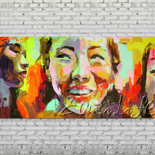 Palette knife portrait Face Oil painting Character figure canva Hand painted Francoise Nielly wall Art picture for living room62