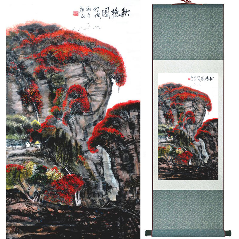 Mountain and river painting Home Office Decoration Chinese scroll painting mountain and River painting LTW2017121520