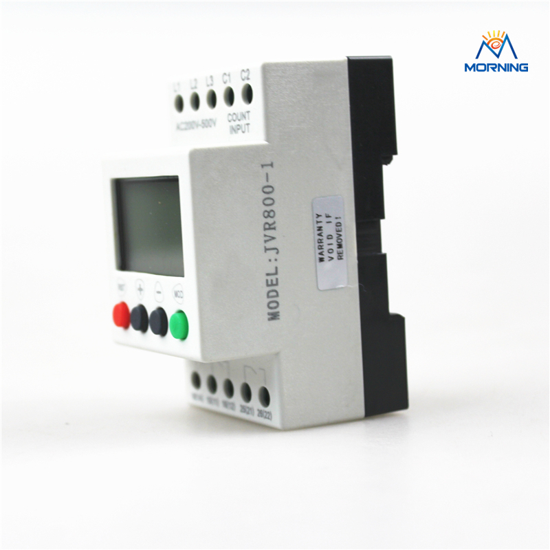 JVR800-1 Multifunction 3-phase And Sequence/Overvoltage/Undervoltage Monitoring Relay With Counting And Timing vj5 lcd display phase failure sequence unbalance protective relay 3 phase and voltage relay