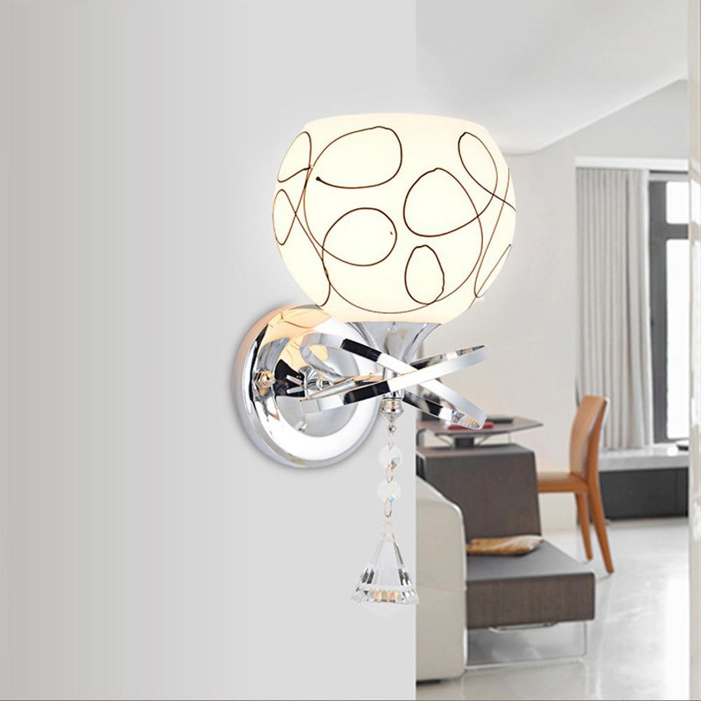 ФОТО Simple modern led lamp circular sconce Single head wall lamp bedroom bedside lamp staircase lights Fashion indoor lighting e27