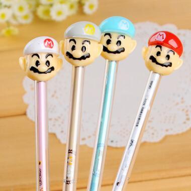 3 шт. Симпатичные Марио гелевая ручка черные чернила ручки Свадебная вечеринка подписать Ручка поставки Супер Марио подарок для малыша
