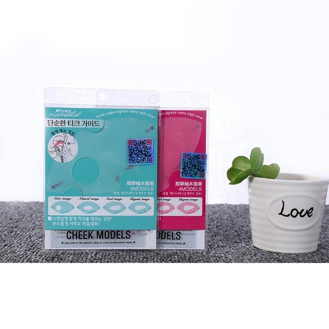 LAMEILA Cheek Modes Blush Aid Blush Card Rouge Card Blush Stencil Card Make Up Tools Beauty Accessories 3