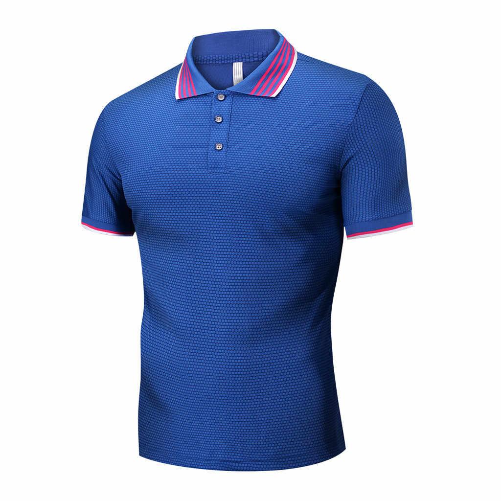 Womail T-shirt Männer Sommer Mode Euro-Amerikanischen Stil Patchwork Revers Kurzarm business Oansatz Komfortable Geschenk NEUE 2019 M22