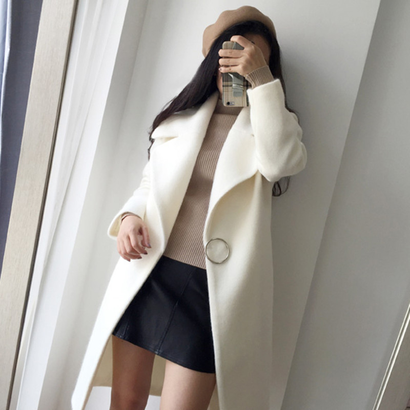 Le Hiver Femmes Épais Automne Casual Vers Bas Tnlnzhyn E413 Tournent Lâche lotus White 2019 Manteau Laine Nouveau De Color qtpE0O0vWc