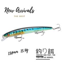HOT fishing lures japanese style assorted colors Retail lure minnow crank 138mm 15.4g high quality 1Pcs 13.8cm 10
