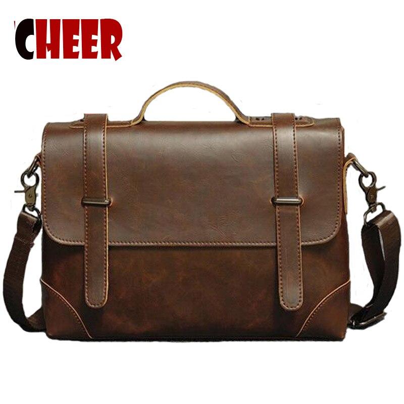 2019 Neue Mode Loptop Business Aktentasche Berühmte Marken Männer Messenger Taschen Vintage Berühmte Designer Marken Schulter Tasche