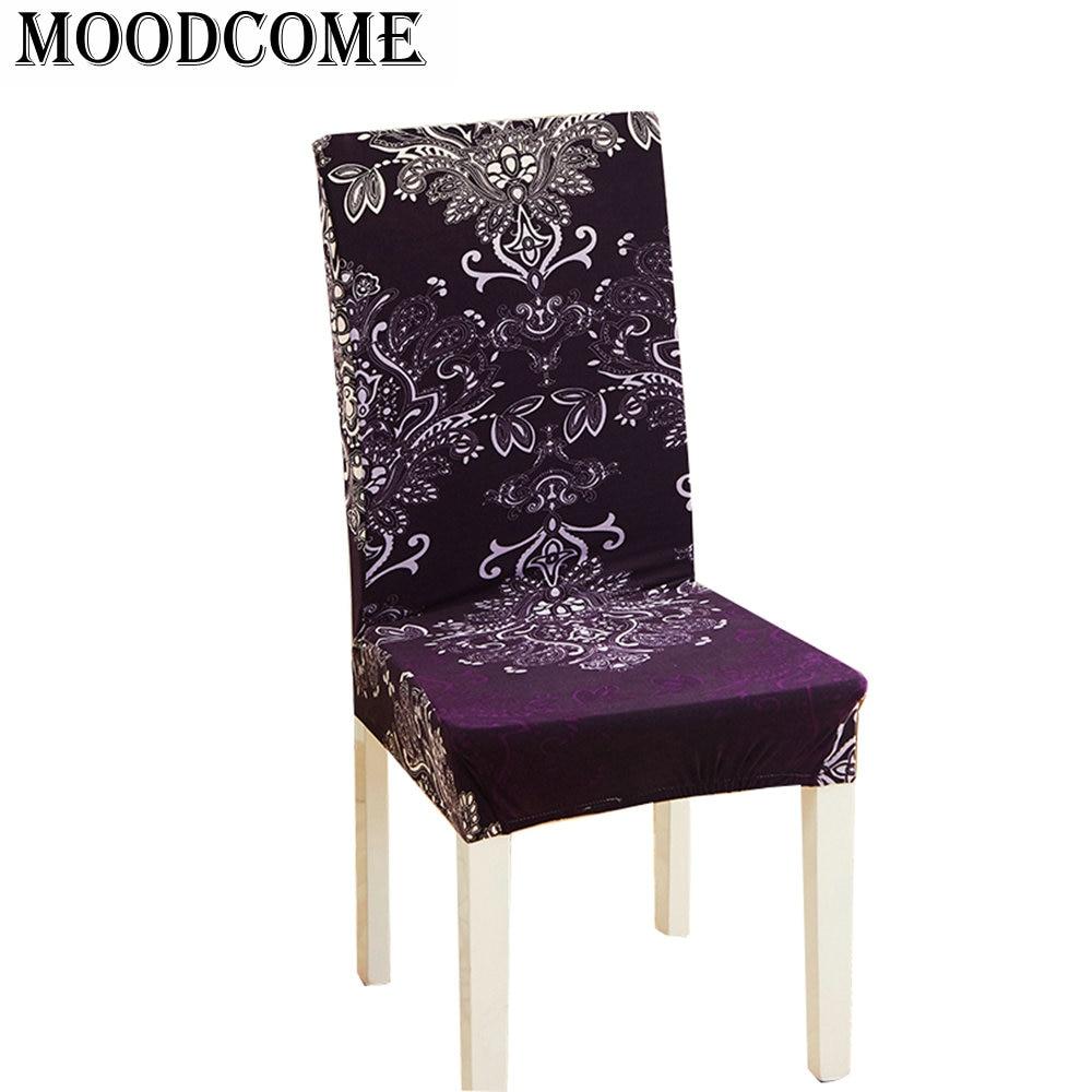 purple floral chair cover elastic spandex 2018 new design drop shipping France Fleur-de- ...