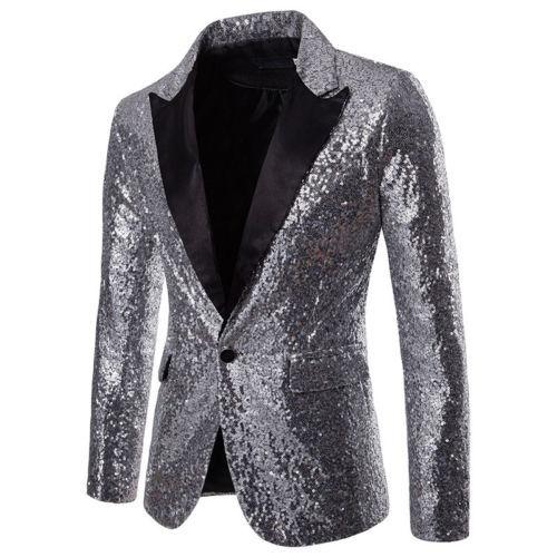 ef563939 Men Sequins Blazer Designs Plus Size 2XL Black Velvet Gold Sequined Suit  Jacket DJ Club Stage Party Wedding Clothes