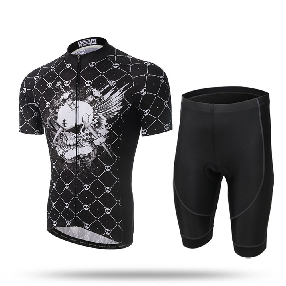 c7fcf7425 XINTOWN Cycling Jersey Men s MTB Cycling Clothing Road Biking Shorts Padded Dark  Skull Breathable Quick Dry-in Cycling Sets from Sports   Entertainment on  ...