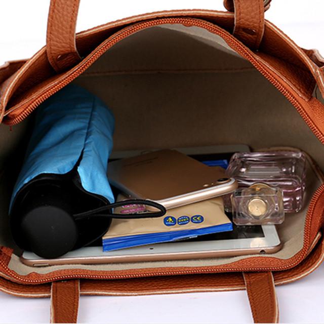 Messenger Bag Woman bag 2019 New Fashion Four-Piece Shoulder Bag Messenger Bag Handbag
