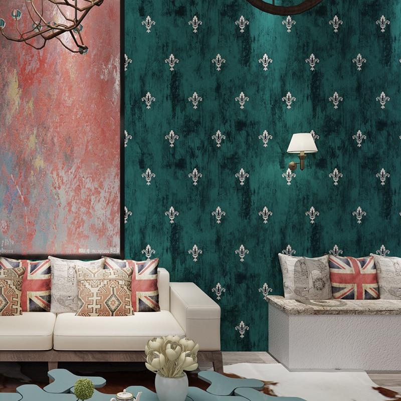 Vintage wallpaper bronzier american style non woven wallpaper bedroom wall wallpaper