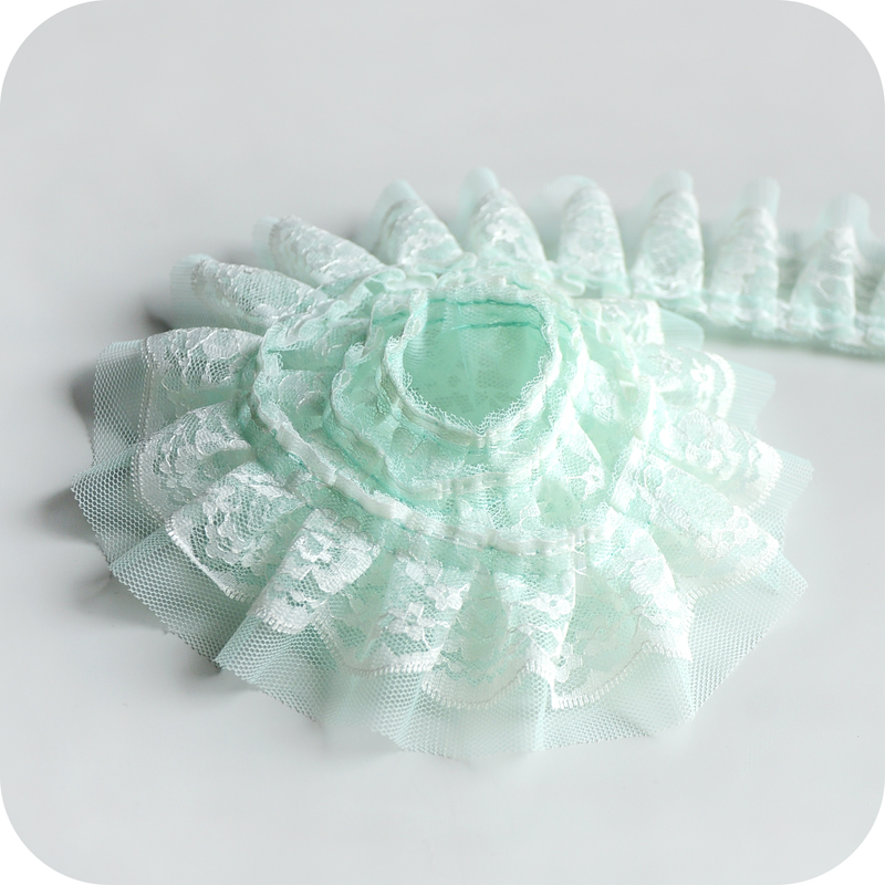 Новейшее гипюровое кружево, материал отделки, плиссированная сетчатая Тюлевая кружевная ткань свадебное сари Свадебные украшения для одеж...