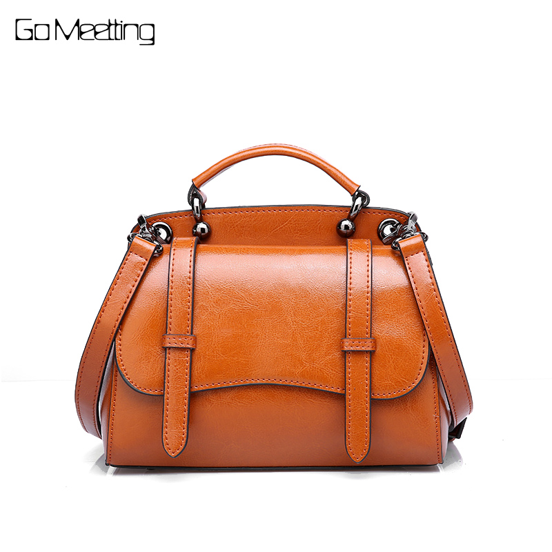 Go Meetting Women Genuine Leather Bag Women's Messenger Bags Tote Handbags Famous Brands High Quality Shoulder Bag Ladies Small ladies genuine leather bag women messenger bags handbags women famous brands crossbody bags for women shoulder bag big