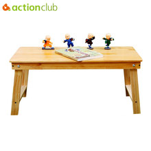 Actionclub Folding Wood Laptop Table Bed Laptop Stand Desk Bed Sofa Learning Table Portable Computer Notebook Table Furniture