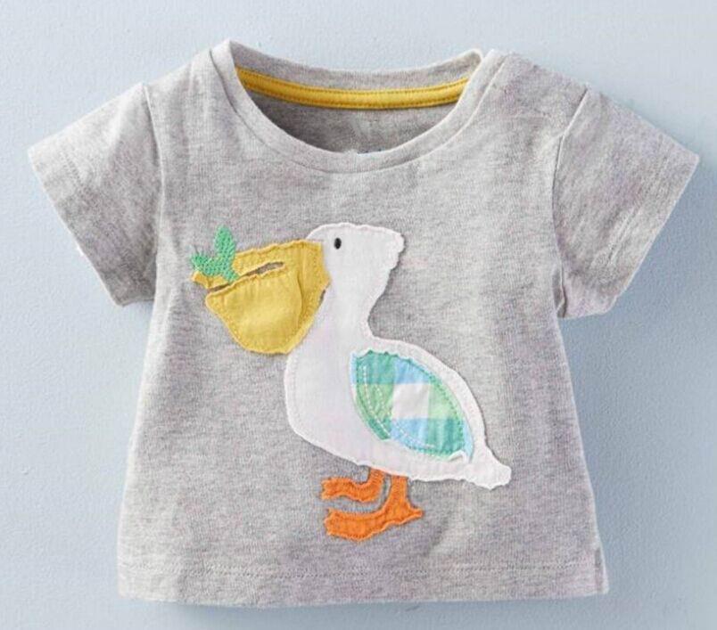 2016 Summer New Boy Cartoon T-shirts Osprey Cotton Short Sleeve T-shirts Children Clothing 1-6T 6066