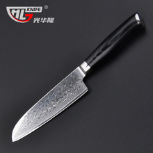 5 inch knife Damascus santoku Japanese VG10 Damascus steel kitchen knife for paring fruit vegetable knives cuchillos de cocina