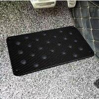 Real Carbon Fiber Car Anti skid Foot Rest Pedal Pad Floor Mats Carpet For Bmw Audi Porsche Jaguar Bentley Leuxs Ford Benz Kia Vw