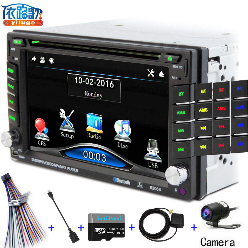 2 DIN Car DVD GPS/ CD / MP3 / mp5 / usb / sd / player Bluetooth Handsfree Rearview after Touch screen hd system NAVIGATION