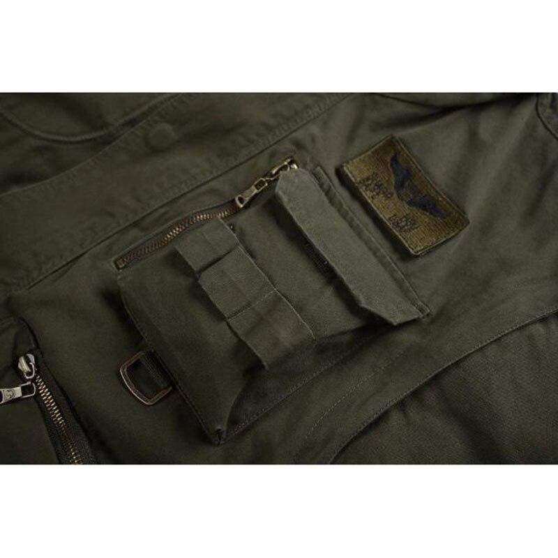 New Military Men's 101 Flight Jacket Removable Sleeve Male Hooded Bomber Jacket Men Multi-pocketed Tooling Jacket Coat 4XL BF657