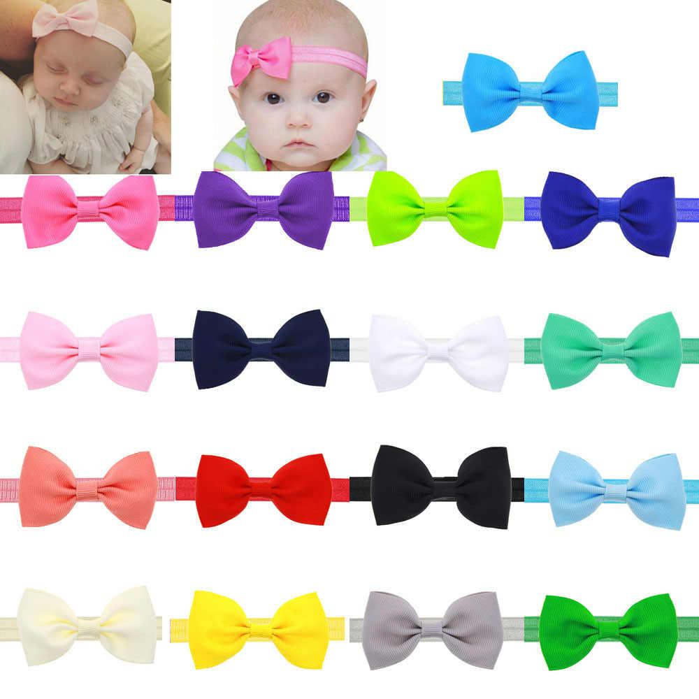 Mini tiara elástica para crianças, tiara com laço para bebês meninas, presente de aniversário, laço, tiara, cuidados com o bebê, elástico, turbante