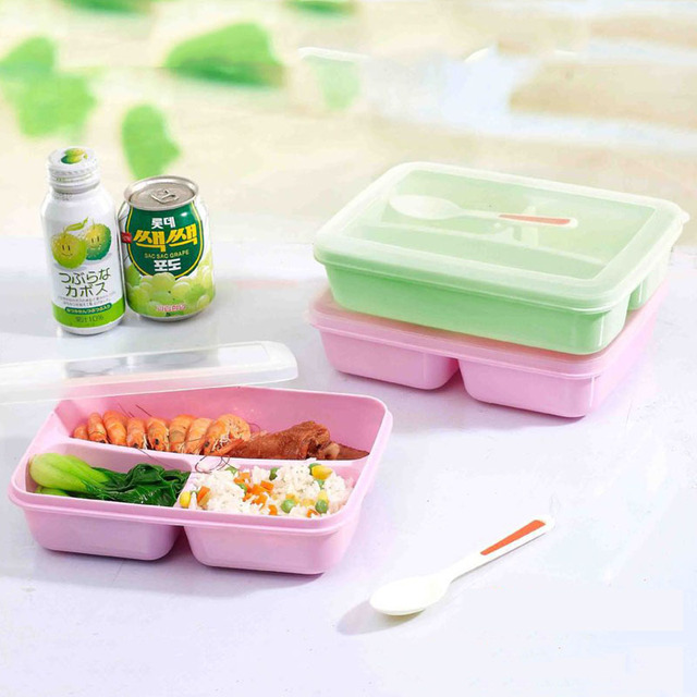Hot Sale 3 Cells Food Container Storage Box Single Children Box for Lunch Portable Microwave Bento & Hot Sale 3 Cells Food Container Storage Box Single Children Box for ...