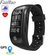 Fanmao S908 сердечного ритма Смарт Браслет GPS послужной умный Браслет IP68 Водонепроницаемый SWIN браслет Фитнес трекер Смарт-часы