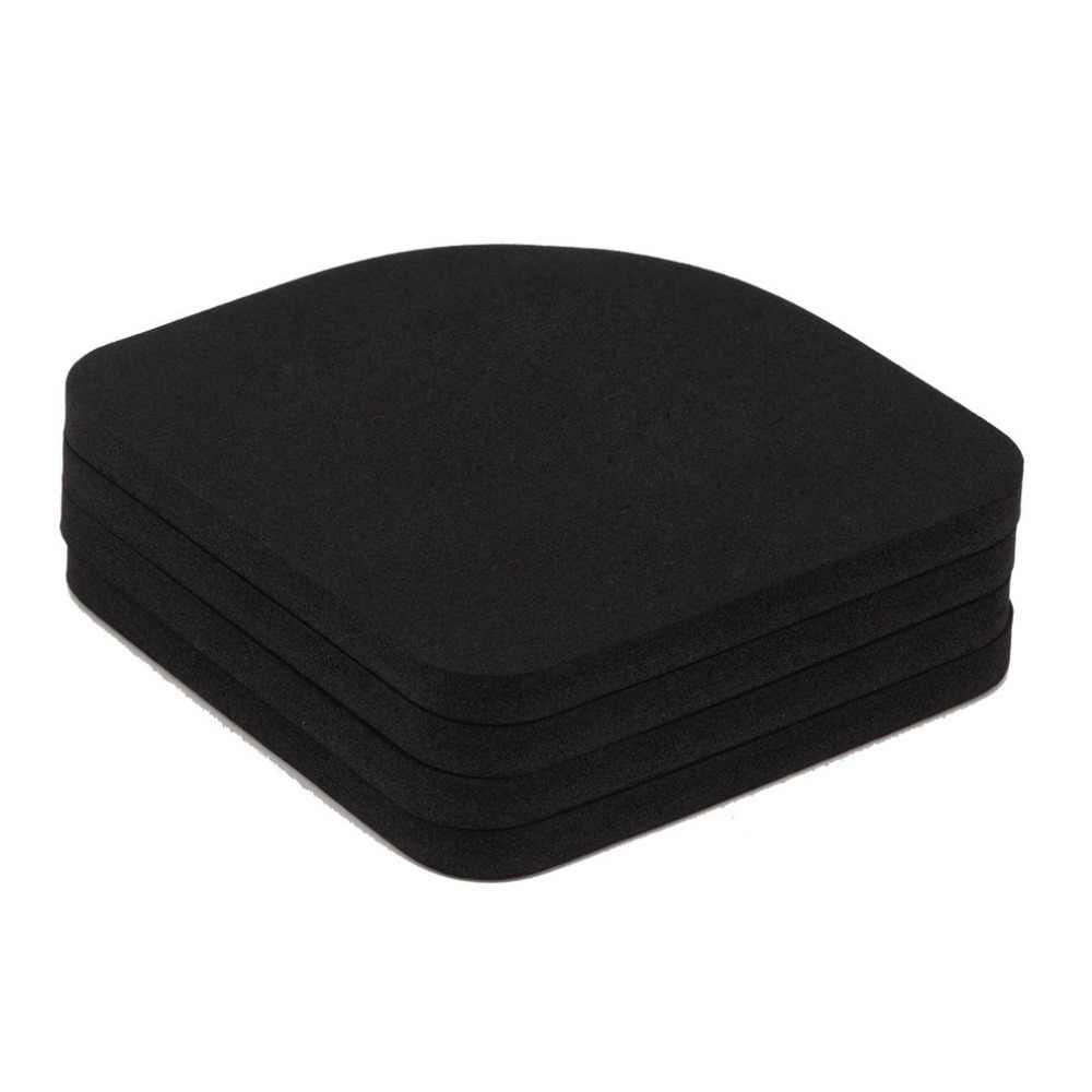 General 4 piezas lavadora esteras antigolpes reducción refrigerador antivibración almohadilla de ruido lavadora a prueba de golpes estera