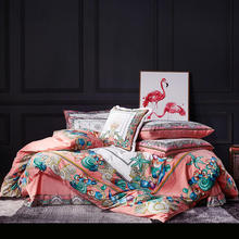 FAMVOTAR Fancy Bedding Set Gorgeous Undersea View Embroidery Duvet Cover King Size Queen 4Pcs Luxury Design