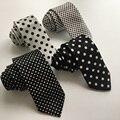 5cm Slender Tie Unique Skinny Necktie Polka Dots Polyester Gravata