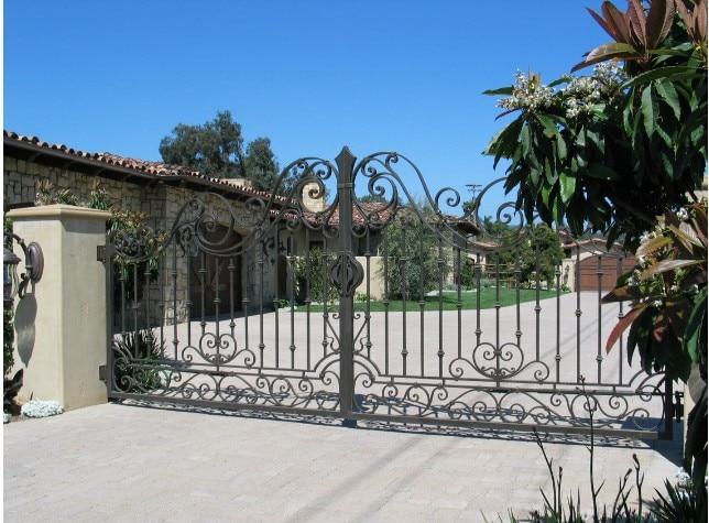 Metal Driveway Gates For Sale  Black Metal Garden Gate Residential Electric Gates