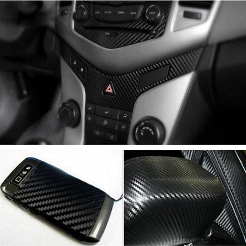 Image 5 - 자동차 랩 시트 롤 필름 스티커 자동차 인테리어 장식 127x30cm 3d 블랙 탄소 섬유 비닐 데칼 인테리어 자동차 스티커 새로운차량용 스티커   -