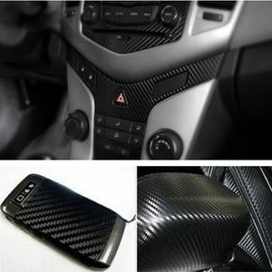 Image 5 - Filme adesivo em vinil para decoração de interior, papel de decoração 127x30cm 3d em fibra de carbono adesivo do carro novo