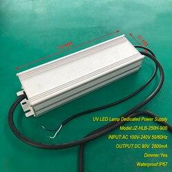2.8A 250W IP67 wodoodporna stałym źródłem prądu dla UV modułu led żel lampy utwardzające wejście AC 100 V-240 V wyjście dc 90V 2800 mA