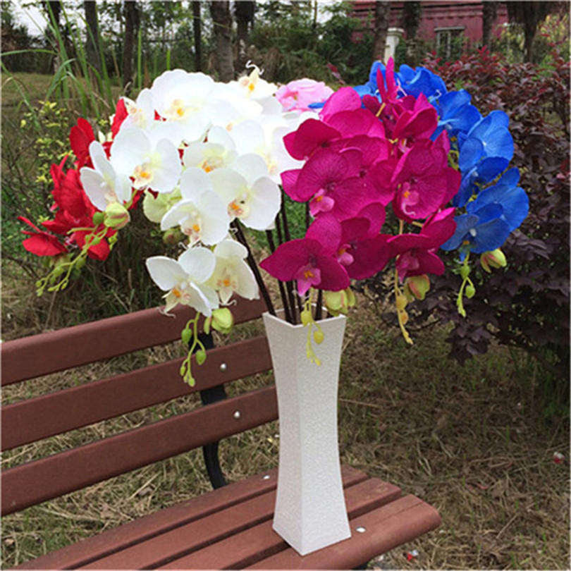 10pcs Phalaenopsis Butterfly Orchids white green pink fuchsia red blue Orchid Flower for Wedding Centerpieces Decorative