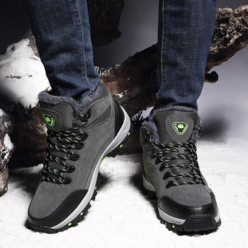 DR.EAGLE Outdoor hiking shoes men waterproof sport shoes winter man mountain boots tactical fishing climbing trekking sneakers