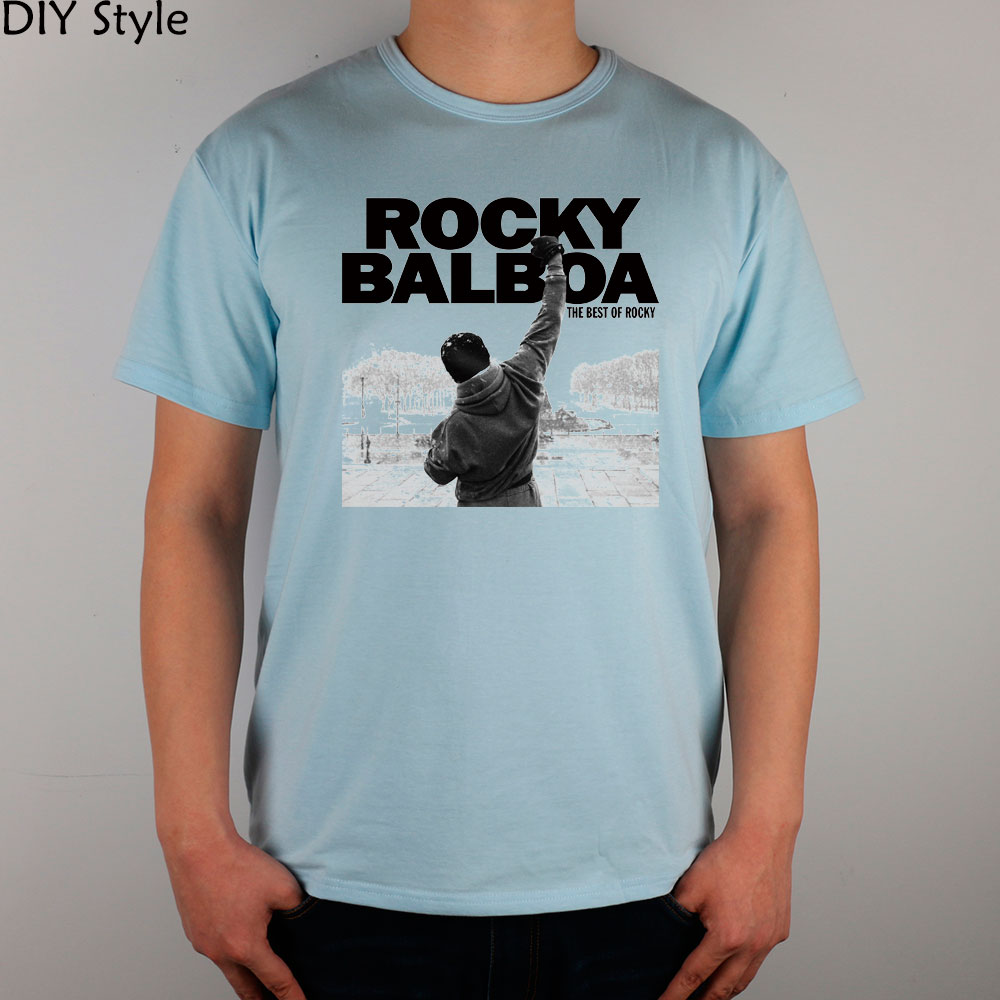 BALBOA inspirational boxer Rocky T-shirt cotton Lycra top ROCK N ROLL