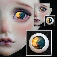 BJD глаза 8 мм 12 мм 14 мм 16 мм 18 мм 20 мм 22 мм акриловый глазное яблоко для BJD куклы ручной работы без учеников nightfall глазного яблока 1/4 1/6 SD кукла