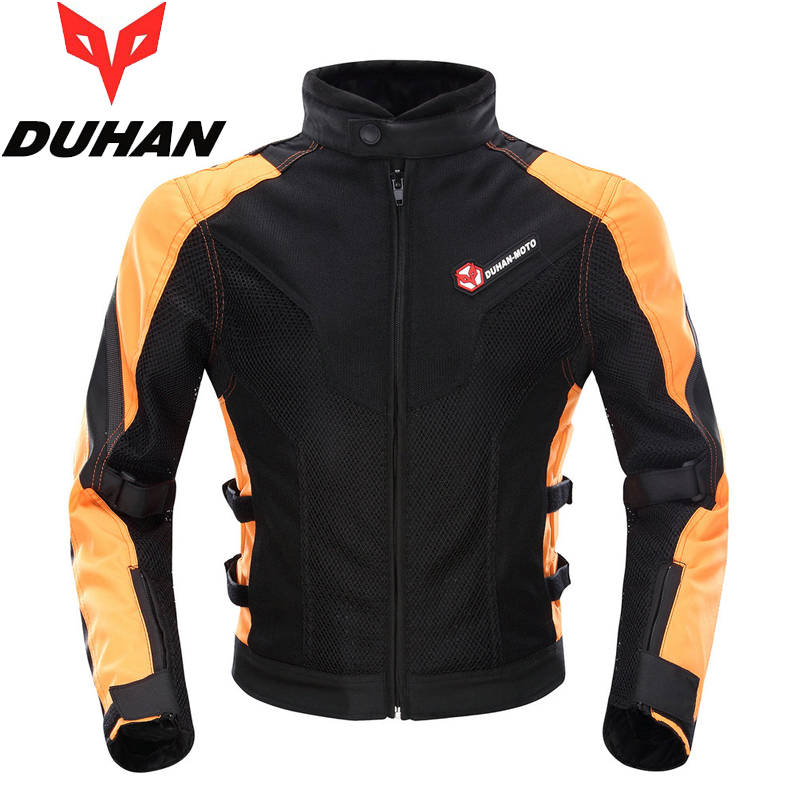 Brand DUHAN Summer Motorcycle Back and Elbow Protection Jacket Motocross Racing Clothing MOTO Mesh Blouson for Men M L XL XXL duhan motorcycle jacket waterproof moto jacket men s motocross clothing motorcycle suit with elbow shoulder back ce protector