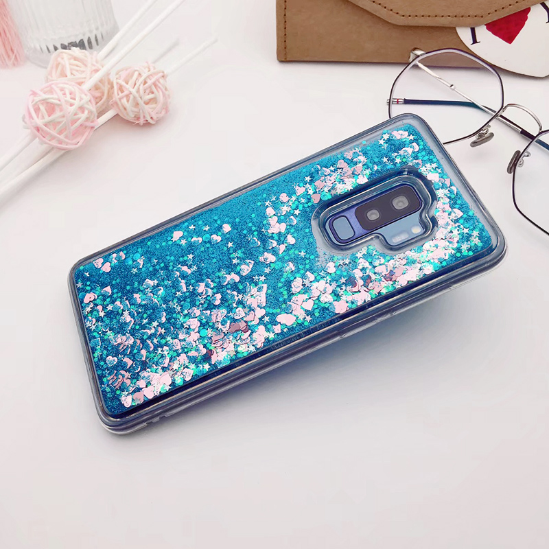 for Samsung Galaxy S9 case Back cover Bling Glitter Dynamic Quicksand Liquid Case for samsung S9 plus cover Galaxy S9 coque (5)