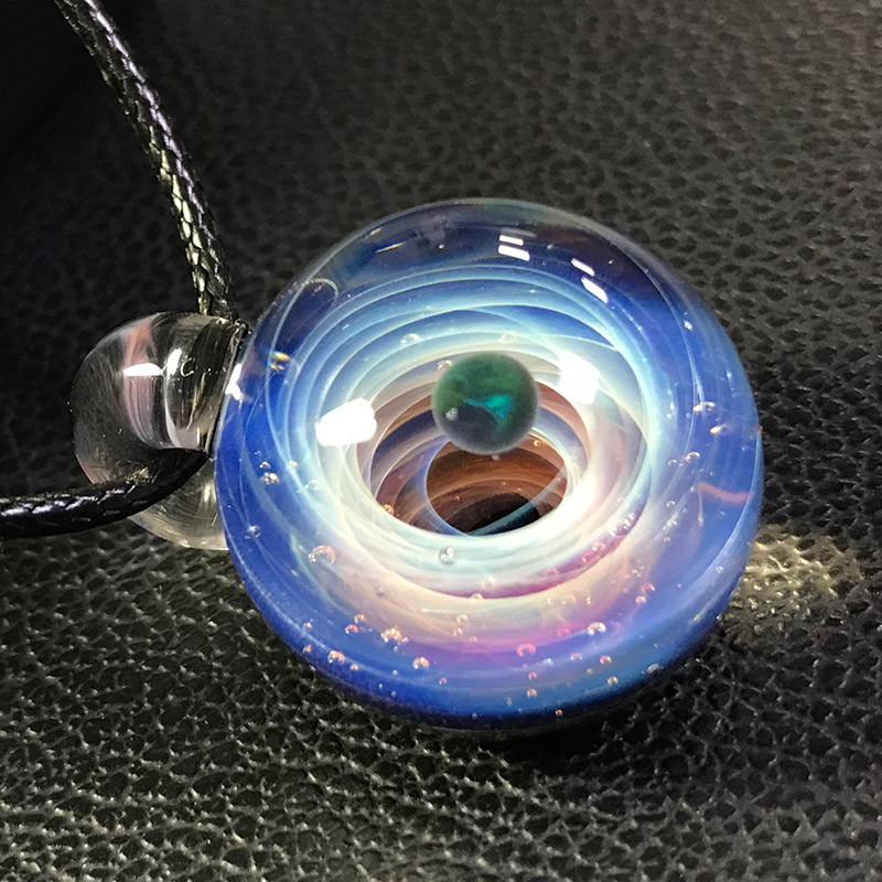 andyJewellery jLuxury Personalized Galaxy Pendant Nebula Glazed Cosmic Creative Glass Necklace Rope Love Lucky gift