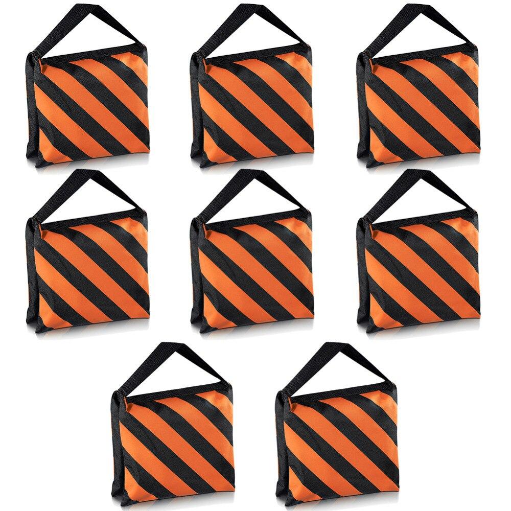 Neewer Set di 8 Nero/Arancione Pellicola Sacchi Di Sabbia Sacchi Di Sabbia Fotografia Studio Video Palco Bisaccia per Stand Luce Boom Arms treppiedi