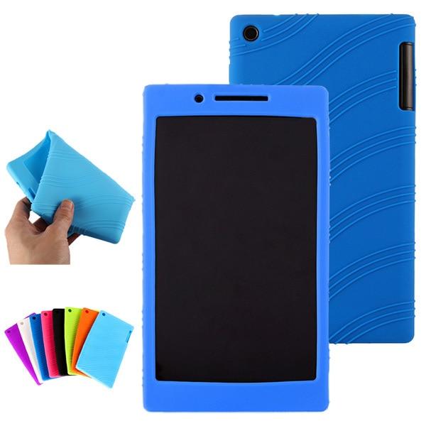 pretty nice ee0c9 fd41f US $8.0  Soft Silicone Case Skin Back Cover For Lenovo Tab 3 7 TB3 730X TB3  730M TB3 730F 7