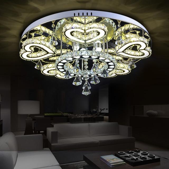 LED Edelstahl Kristall Herzen Led lampe. LED Licht. Deckenleuchten ...
