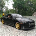Hot toy model 1:24 super sportscar 2009 GTR alloy model, die-casting model birthday gifts, collection, home furnishings
